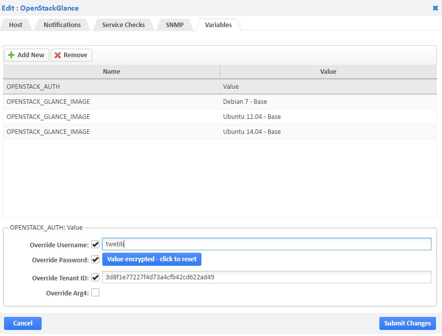 OpenStack Glance Host Variables