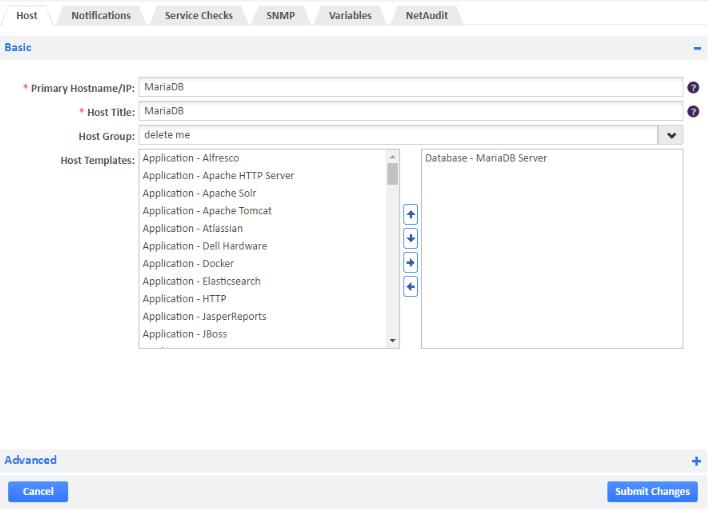 MariaDB Opsview