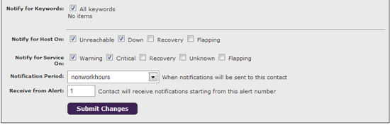 configure notification alerts